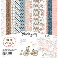 "Elizabeth Craft Designs 12x12"" Paper Pack Viaggi Vintage by Modascrap"