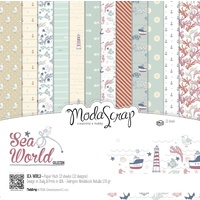 "Elizabeth Craft Designs 12x12"" Paper Pack Sea World 12pk by Modascrap"