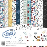 "Elizabeth Craft Designs 6x6"" Paper Pack Back to School 12pk by Modascrap"