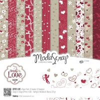 "Elizabeth Craft Designs 6x6"" Paper Pack SImply Love 12pk by Modascrap"