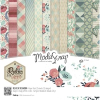 "Elizabeth Craft Designs 12x12"" Paper Pack Relax in the Garden 12pk by Modascrap"