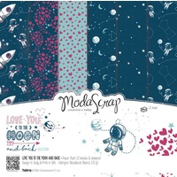 "Elizabeth Craft Designs 12x12"" Paper Pack Love You to the Moon and Back 12pk by Modascra"