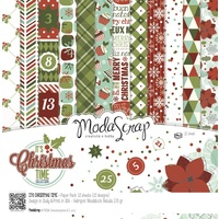 "Elizabeth Craft Designs 6x6"" Paper Pack It's Christmas Time 12pk by Modascrap"