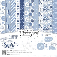 "Elizabeth Craft Designs 12x12"" Paper Pack Let It Snow 12pk by Modascrap"