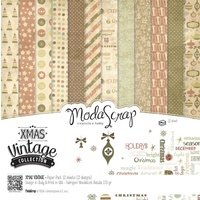 "Elizabeth Craft Designs 12x12"" Paper Pack Xmas Vintage Collection 12pk by Modascrap"