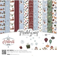 "Elizabeth Craft Designs 12x12"" Paper Pack White Christmas 12pk by Modascrap"