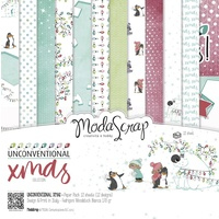 "Elizabeth Craft Designs 12x12"" Paper Pack Unconventional Christmas 12pk by Modascrap"
