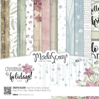 "Elizabeth Craft Designs 12x12"" Paper Pack Christmas Holidays 12pk by Modascrap"