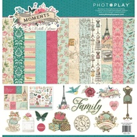 "PhotoPlay Paper Moments in Time 12x12"" Collection Pack with Sticker Sheet"