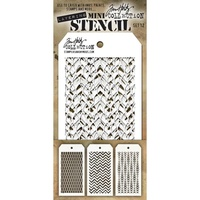 Stampers Anonymous Mini Layered Stencil Set #12 3pc by Tim Holtz