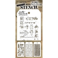 Stampers Anonymous Mini Layered Stencil Set #15 3pc by Tim Holtz