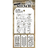 Stampers Anonymous Mini Layered Stencil Set #23 3pc by Tim Holtz