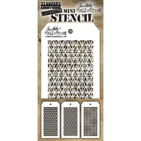 Stampers Anonymous Mini Layered Stencil Set #27 3pk by Tim Holtz