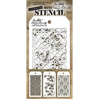 Stampers Anonymous Mini Layered Stencil Set #4 3pc by Tim Holtz