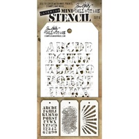 Stampers Anonymous Mini Layered Stencil Set #5 3pc by Tim Holtz