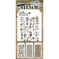 Stampers Anonymous Mini Layered Stencil Set #7 3pc by Tim Holtz