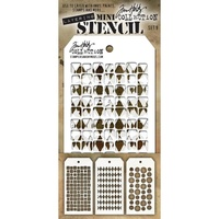 Stampers Anonymous Mini Layered Stencil Set #9 3pc by Tim Holtz