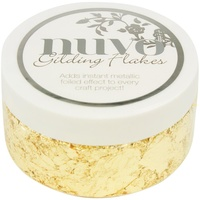 Nuvo Gilding Flakes 6.8oz Radiant Gold