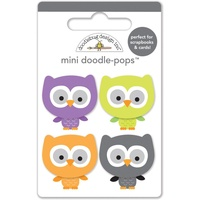 Doodlebug DoodlePops 3D Stickers October 31st Lil Owls Mini