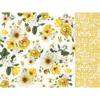 "Kaisercraft 12x12"" Paper Golden Grove Gold Dahlia"