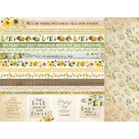 "Kaisercraft 12x12"" Paper Golden Grove Grateful"