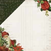 "Kaisercraft Letters to Santa 12x12"" Double Sided Scrapbook Paper Dear Santa"