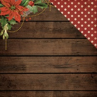 "Kaisercraft Letters to Santa 12x12"" Double Sided Scrapbook Paper Poinsettia Garland"
