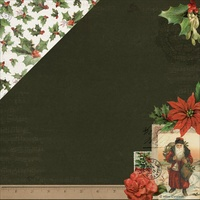 "Kaisercraft Letters to Santa 12x12"" Double Sided Scrapbook Paper Holly & Berries"