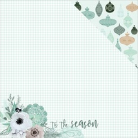 "Kaisercraft Mint Wishes 12x12"" Double Sided Scrapbook Paper Flannelette"