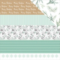 "Kaisercraft Mint Wishes 12x12"" Double Sided Scrapbook Paper Shiver"