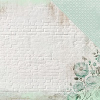 "Kaisercraft Memory Lane 12x12"" Scrapbook Paper Mint Blush"