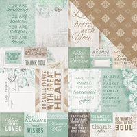 "Kaisercraft Memory Lane 12x12"" Scrapbook Paper Lakeside"