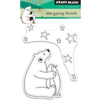 "Penny Black Clear Stamp 3x4"" Star Gazing Friends"
