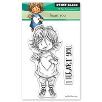 Penny Black Clear Stamp Heart You