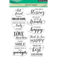 Penny Black Cling Stamp Choose Happy