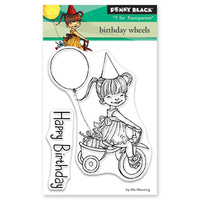 Penny Black Clear Stamp Birthday Wheels