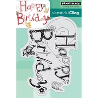 Penny Black Cling Stamp Birthday Hoopla
