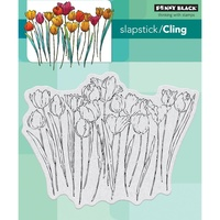 Penny Black Cling Stamp Tulip Queue