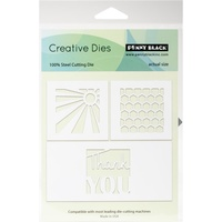 Penny Black Creative Die Thank You Squares