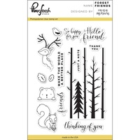 "Pinkfresh Studio Clear Stamp Set 4x6"" Forest Friends"