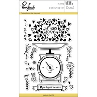"Pinkfresh Studio Clear Stamp Set 4x6"" Love Scale"