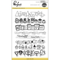 "Pinkfresh Studio Clear Stamp Set 4x6"" Lovely Borders #2"