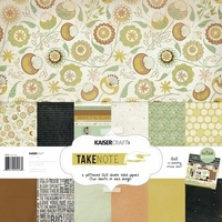 "Kaisercraft Take Note 12x12"" Paper Pack with Bonus Sticker Sheet"