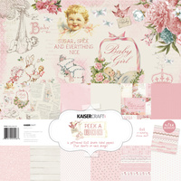 "Kaisercraft Peek-a-Boo Girl 12x12"" Paper Pack with Bonus Sticker Sheet"