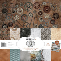 "Kaisercraft 12x12"" Paper Pack Factory 42 12pc with Bonus Sticker Sheet"