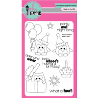 "Pink & Main Clear Stamp 4x6"" What A Hoot"
