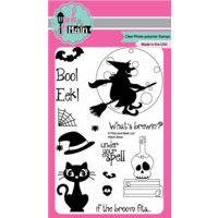 "Pink & Main Clear Stamp 4x6"" Witch Brew"