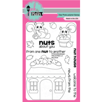 "Pink & Main Clear Stamp 4x6"" Nut House"