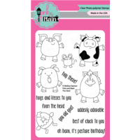 "Pink & Main Clear Stamp 4x6"" The Herd"