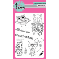 "Pink & Main Clear Stamp 4x6"" Wild About You"